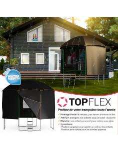 Cabane trampoline Ø 400 cm pour TOUT Trampoline Ø 370 cm