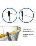 Trampoline Jump Power avec echelle et panier de basket - Diamètre 366 cm
