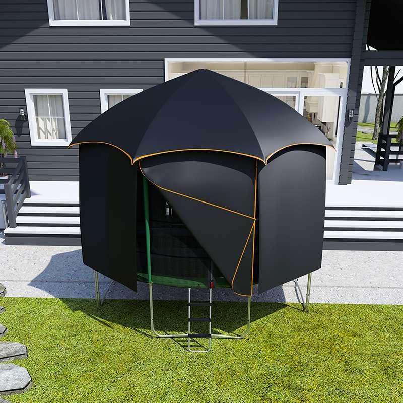 pack aventure trampoline cabane tente 370cm topflex toit trampoline. Black Bedroom Furniture Sets. Home Design Ideas