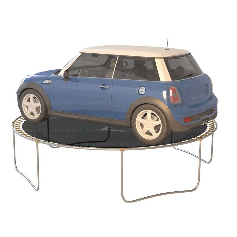 test poids trampoline topflex