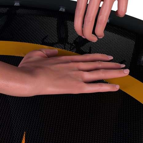 coussin trampoline fitness topflex femme