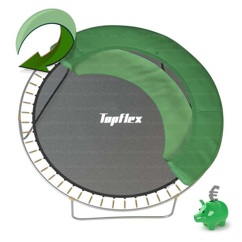 coussin amovible trampoline topflex