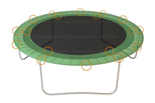 T de cadre trampoline Topflex