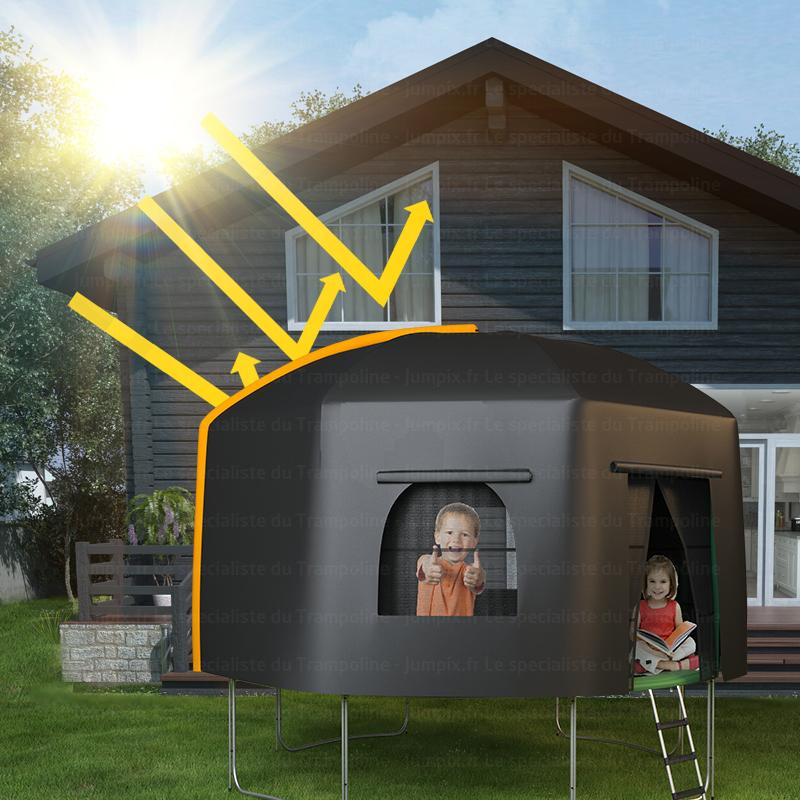 tente pour trampoline topflex tente pour trampoline 370cm topflex. Black Bedroom Furniture Sets. Home Design Ideas
