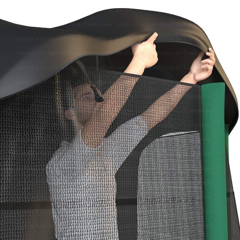 installation trampoline topflex