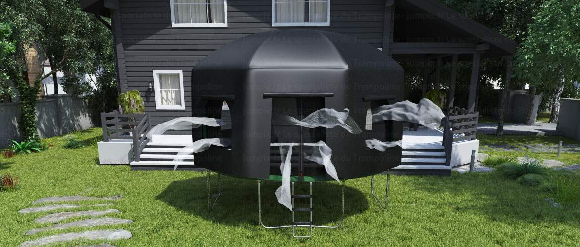 night trampoline tent
