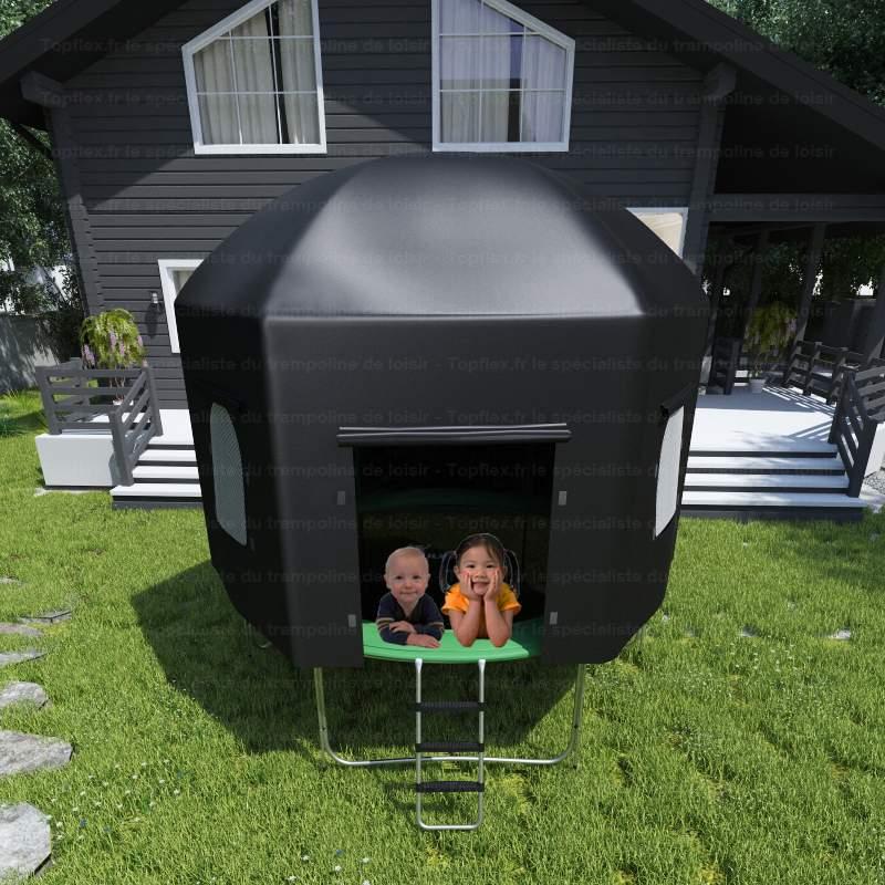 tente pour trampoline topflex tente pour trampoline 305cm topflex. Black Bedroom Furniture Sets. Home Design Ideas