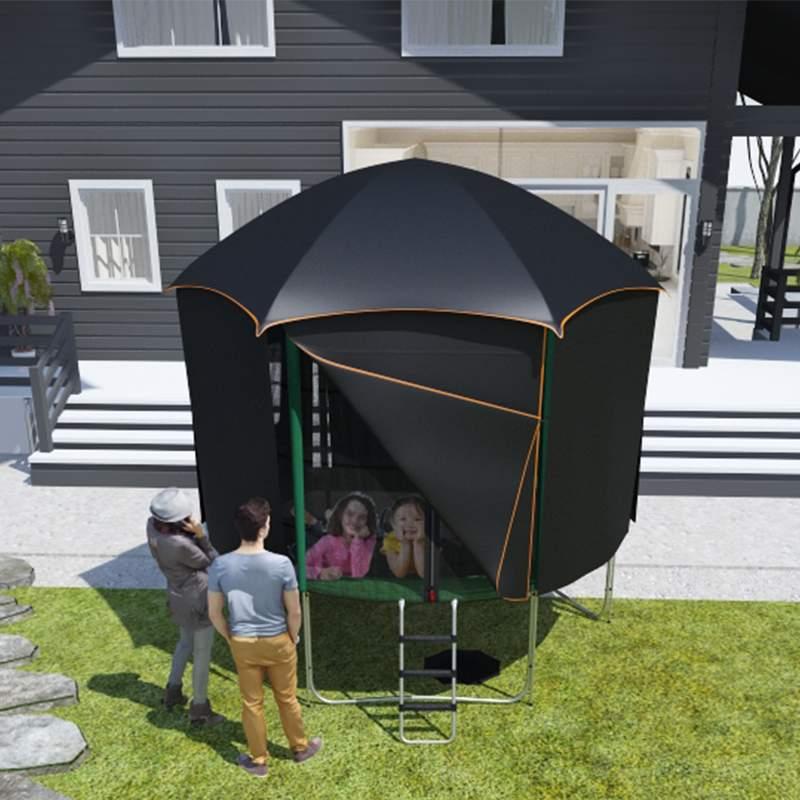 pack aventure trampoline cabane tente 305 cm topflex toit trampoline. Black Bedroom Furniture Sets. Home Design Ideas