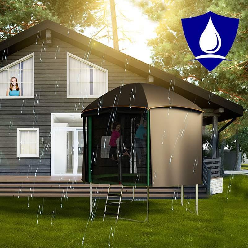 pack aventure trampoline cabane tente 370cm topflex. Black Bedroom Furniture Sets. Home Design Ideas