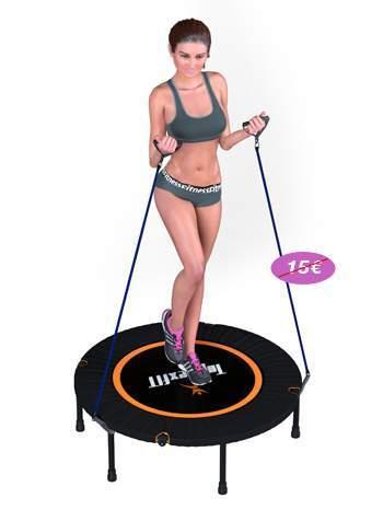 trampoline fitness topflex femme elastic