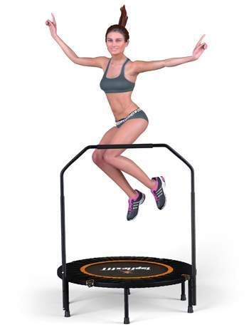 trampoline fitness topflex femme saut