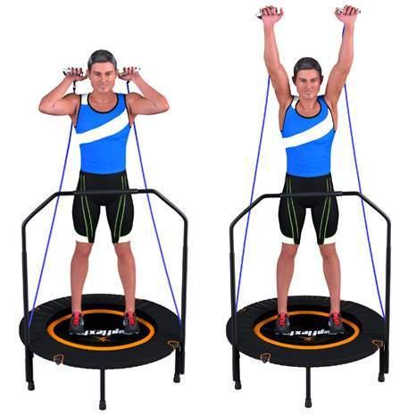 trampoline fitness topflex exercice elastic