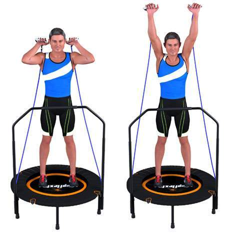 mini trampoline de fitness topflex fit 99 avec 3. Black Bedroom Furniture Sets. Home Design Ideas